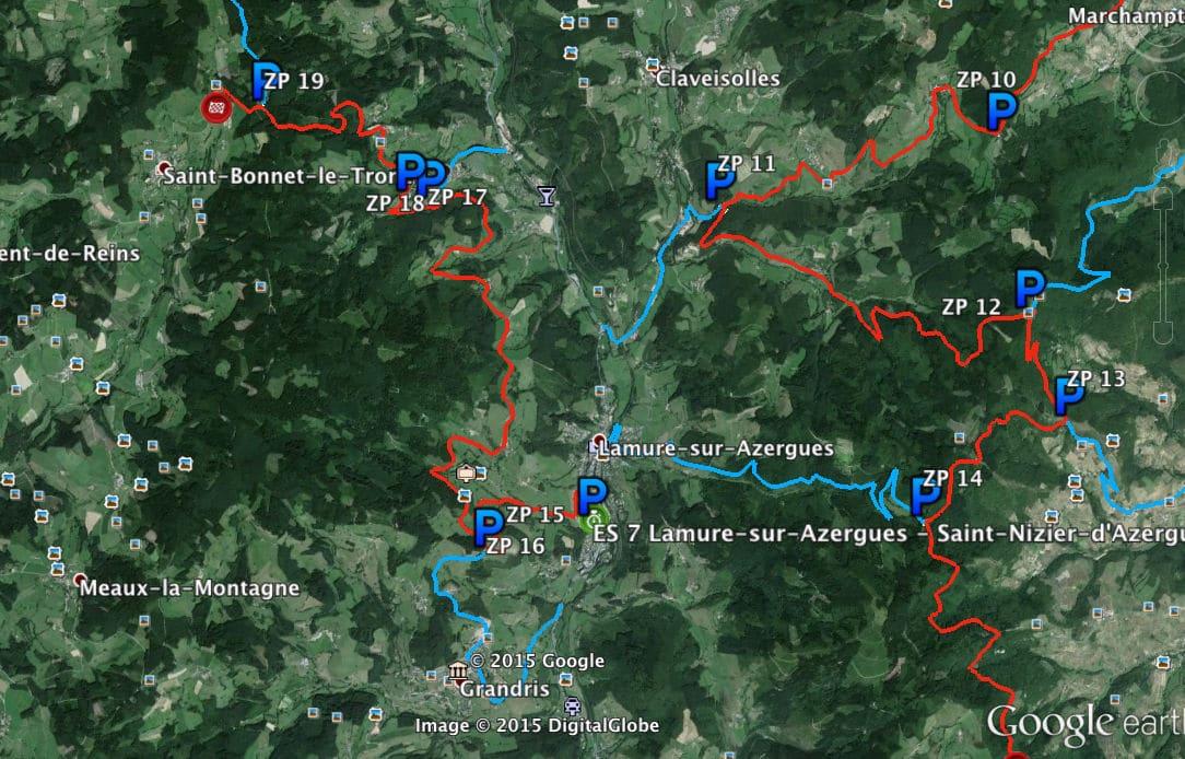 Cartes-des-zones-vertes-p1-ES-Lamure-sur-azergues-saint-bonnet-le-troncy-ES2-ES7-rallye-lyon-charbonnieres-2015