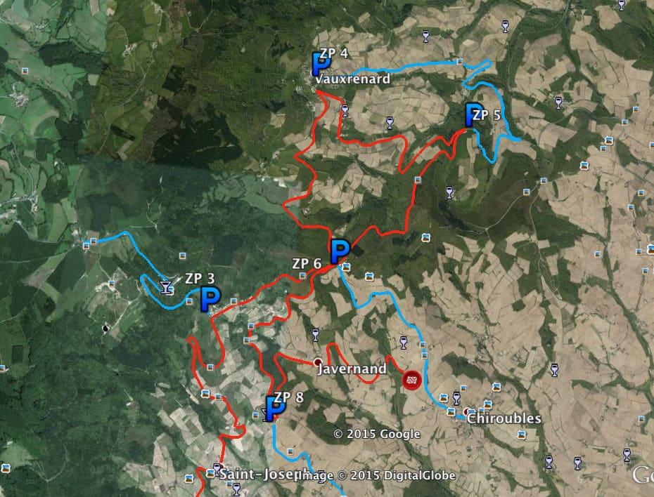 Plan-des-zones-vertes-ES-Lantignié-Villié-Morgon-Beaujeu-ES1-ES5-ES10-rallye-lyon-charbonnieres-2015