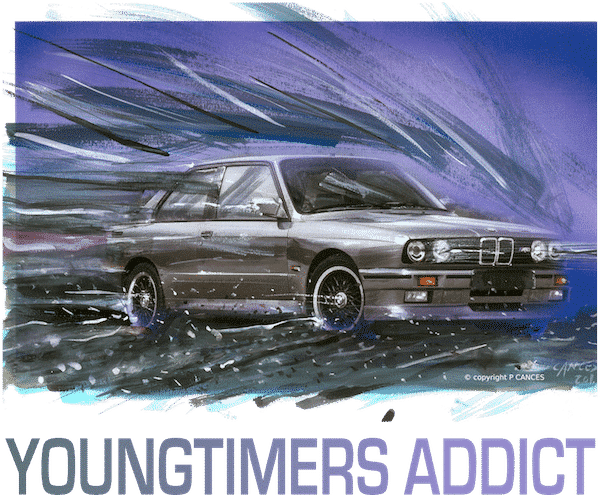 dessin BMW M3 E30 YOUNTIMERS ADDICT