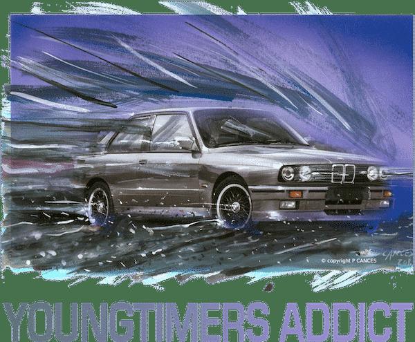 dessin BMW M3 E30 YOUNTIMERS ADDICT