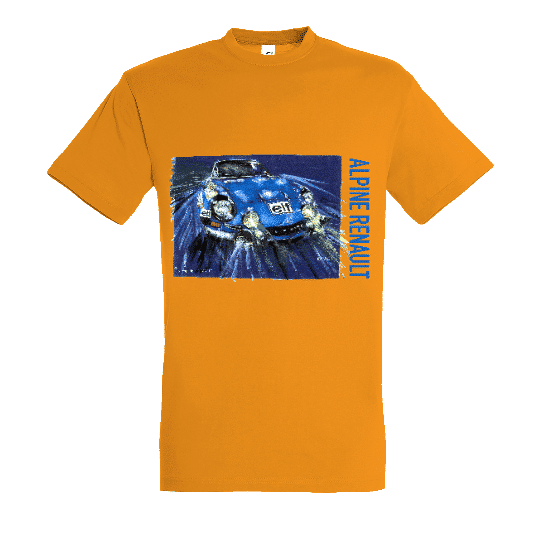 Tee shirt alpine renault orange