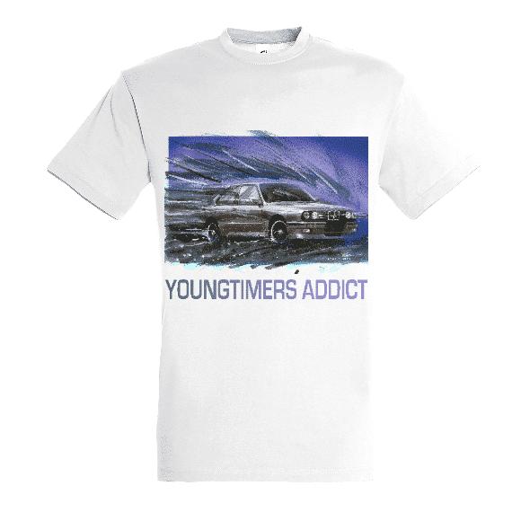 Tee shirt blanc M3 E30 YOUNGTIMERS ADDICT