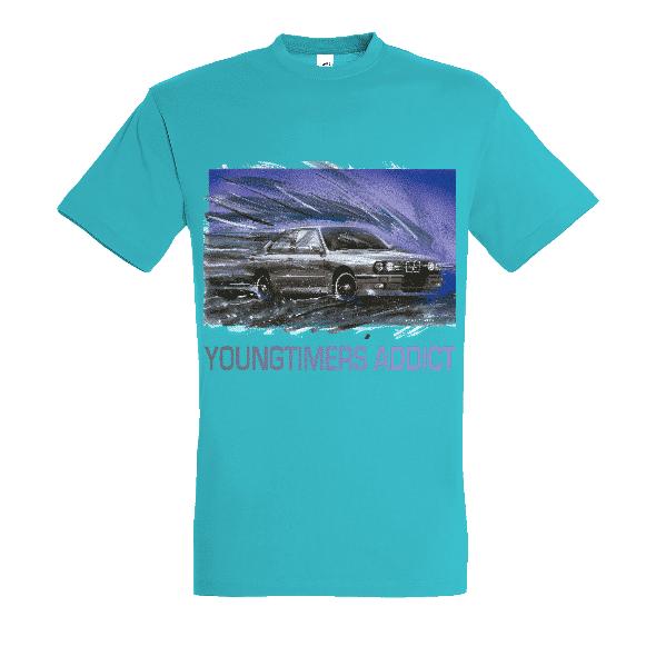 Tee shirt bleu atoll M3 E30 YOUNGTIMERS ADDICT