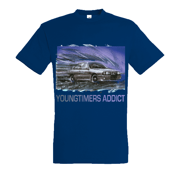 Tee shirt bleu royal M3 E30 YOUNGTIMERS ADDICT