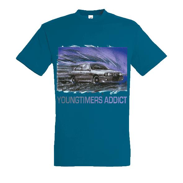 Tee shirt bleu canard M3 E30 YOUNGTIMERS ADDICT