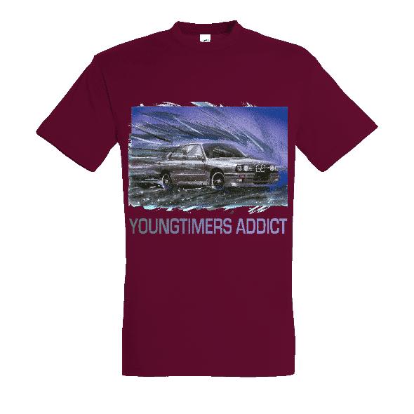 Tee shirt bordeaux M3 E30 YOUNGTIMERS ADDICT