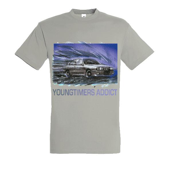 Tee shirt gris clair M3 E30 YOUNGTIMERS ADDICT