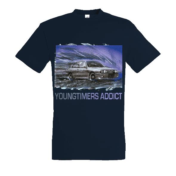Tee shirt Bleu marine M3 E30 YOUNGTIMERS ADDICT