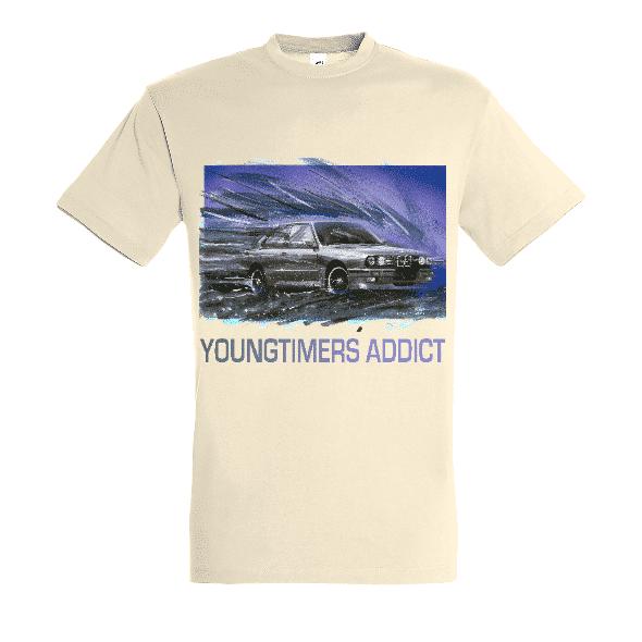 Tee shirt Naturel M3 E30 YOUNGTIMERS ADDICT