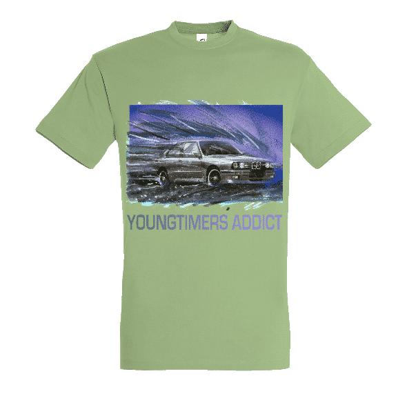Tee shirt Vert tilleul M3 E30 YOUNGTIMERS ADDICT
