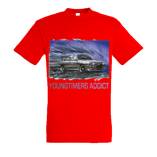 Tee shirt Rouge M3 E30 YOUNGTIMERS ADDICT