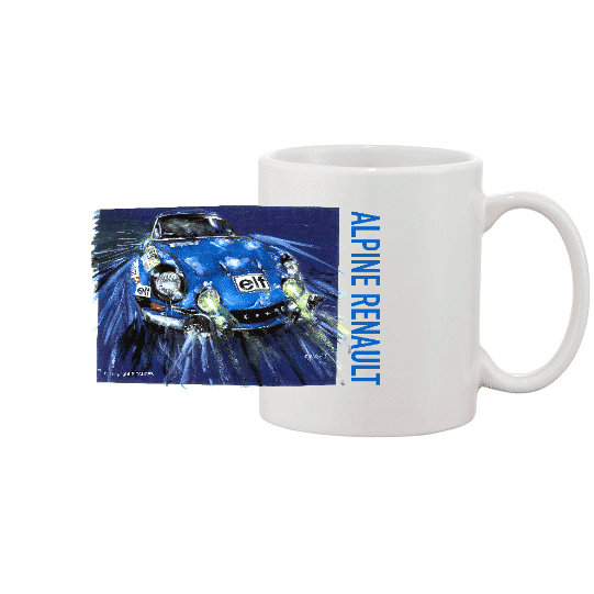 Mug blanc Alpine Renault A110