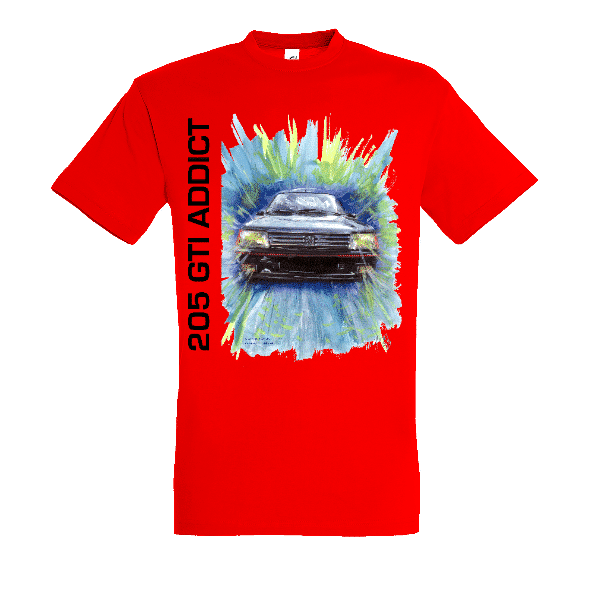 Tee shirt rouge 205 GTI ADDICT