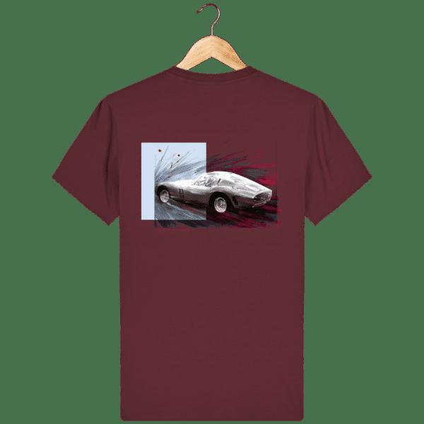 Tee Shirt Ferrari GTO burgundy