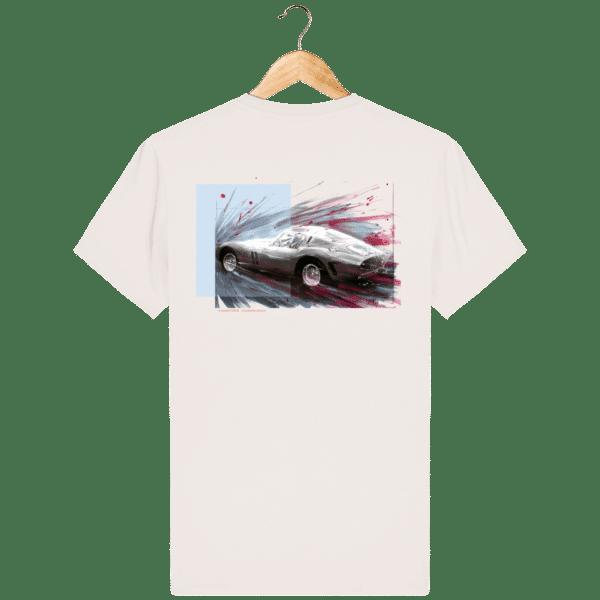 Tee Shirt Ferrari GTO blanc vintage