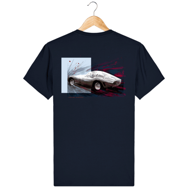Tee Shirt Ferrari GTO bleu marine