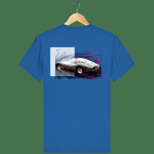 Tee Shirt Ferrari GTO bleu royal