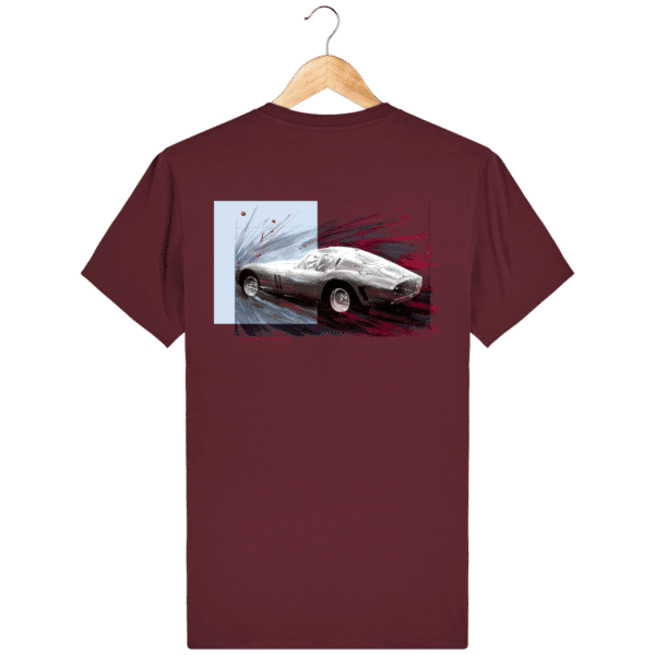 Tee Shirt Ferrari GTO lie de vin