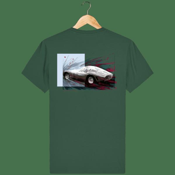 Tee Shirt Ferrari GTO vert bouteille