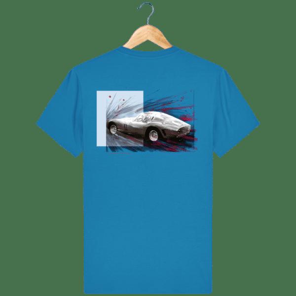 Tee Shirt Ferrari GTO bleu azur
