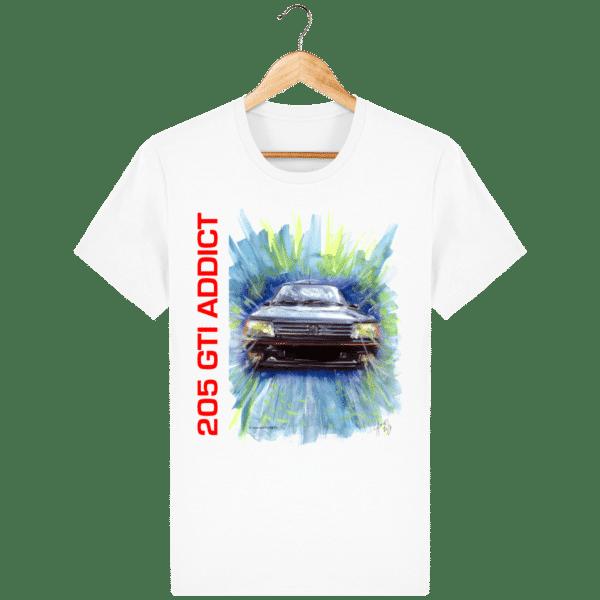 Tee Shirt 205 GTI fond blanc