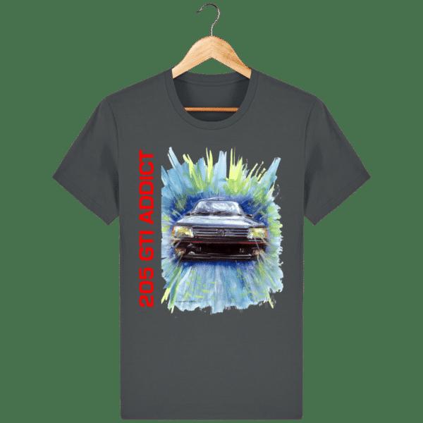 Tee Shirt 205 GTI fond anthracite