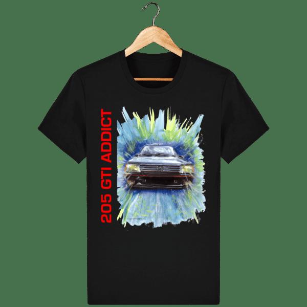 Tee Shirt 205 GTI fond noir