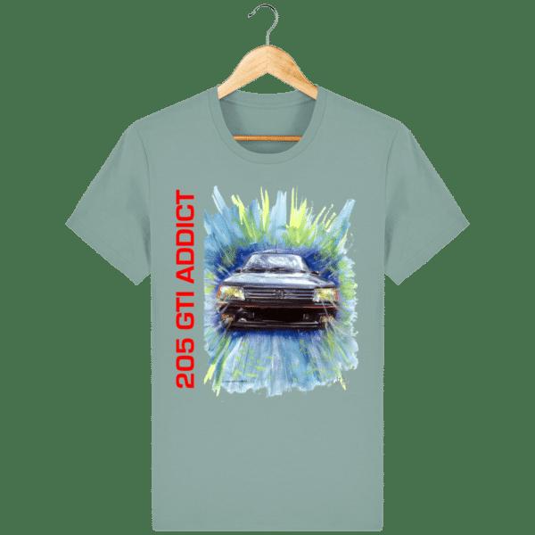 Tee Shirt 205 GTI fond bleu citadelle