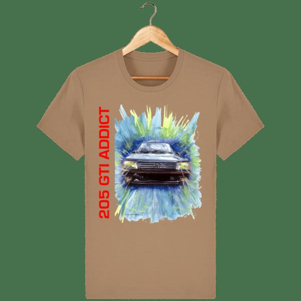Tee Shirt 205 GTI fond camel