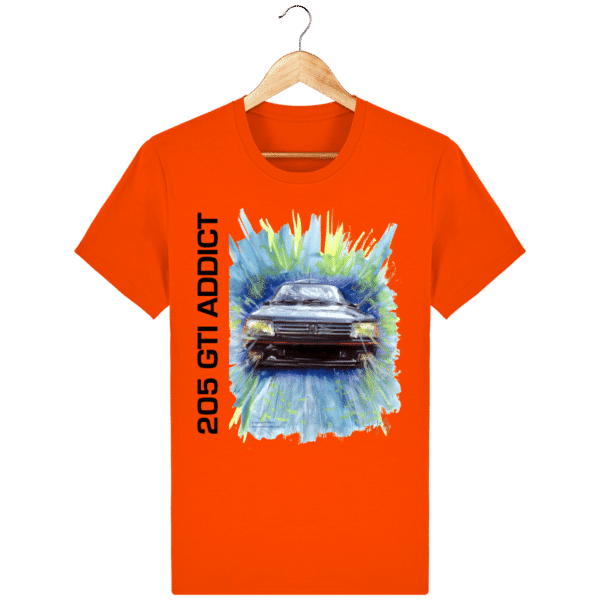 T Shirt 205 GTI addict rouge bright-orange
