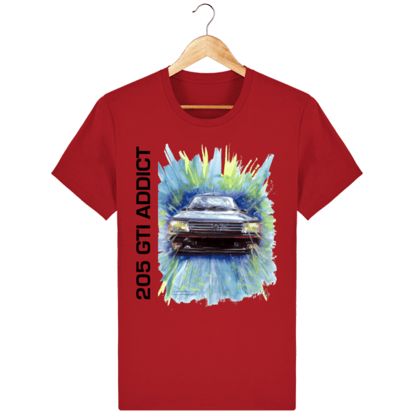 T Shirt 205 GTI addict rouge