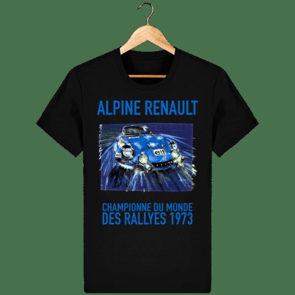 Tee Shirt ALPINE RENAULT championne du monde 1973 noir