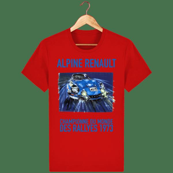 Tee Shirt ALPINE RENAULT championne du monde 1973 rouge