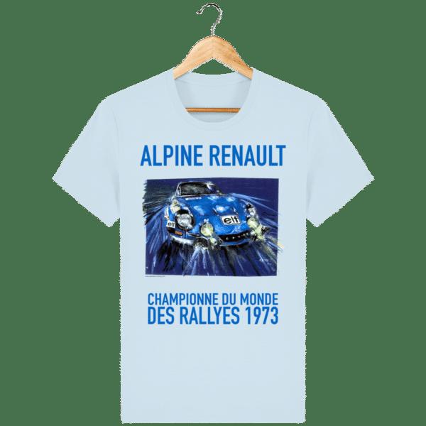 Tee Shirt ALPINE RENAULT championne du monde 1973 baby bleu