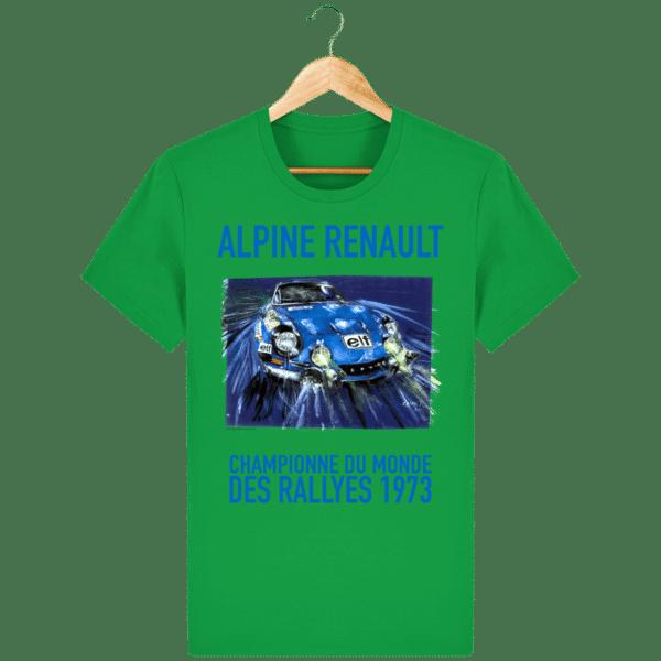 Tee Shirt ALPINE RENAULT championne du monde 1973 vert