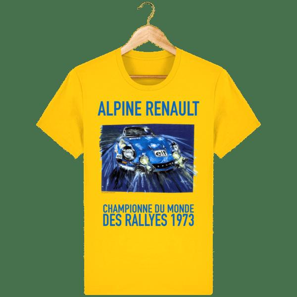 Tee Shirt ALPINE RENAULT championne du monde 1973 jaune