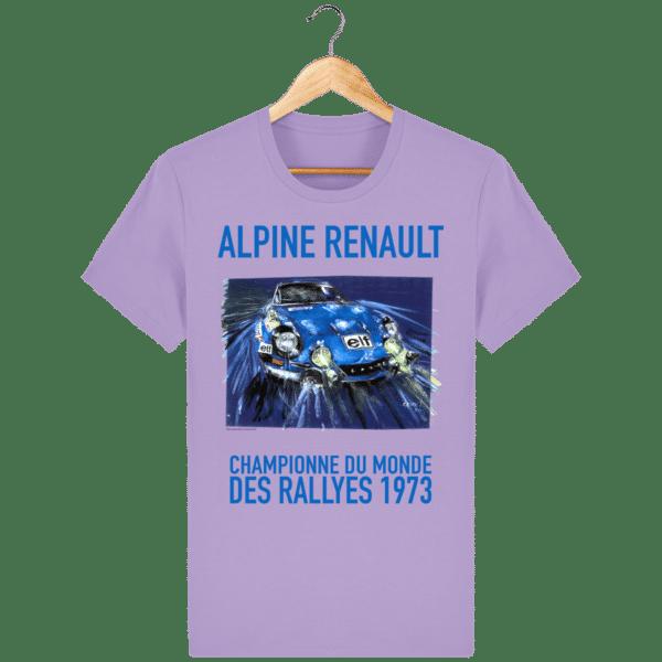 Tee Shirt ALPINE RENAULT championne du monde 1973 lavende