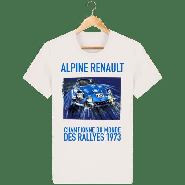 Tee Shirt ALPINE RENAULT championne du monde 1973 vintage-white