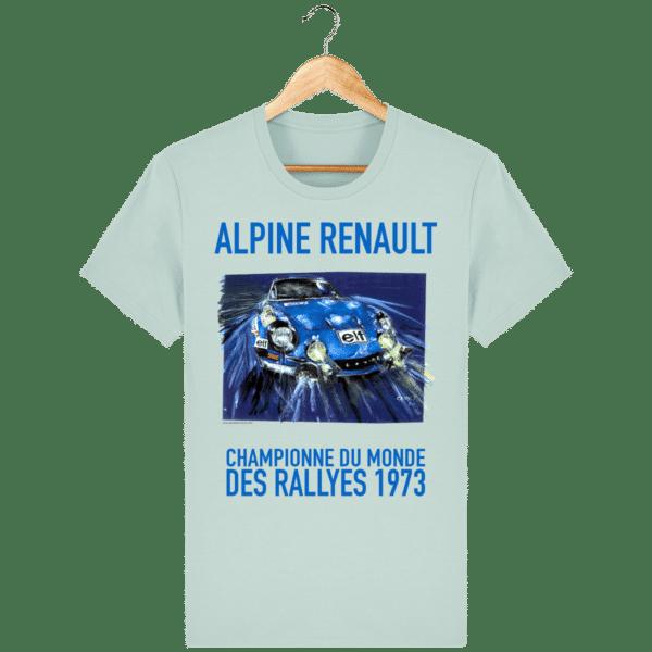 Tee Shirt ALPINE RENAULT championne du monde 1973 caribbean-blue