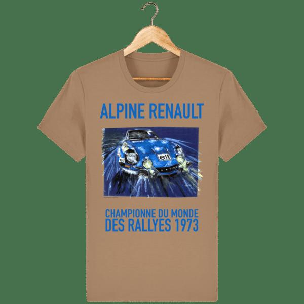 Tee Shirt ALPINE RENAULT championne du monde 1973 Camel