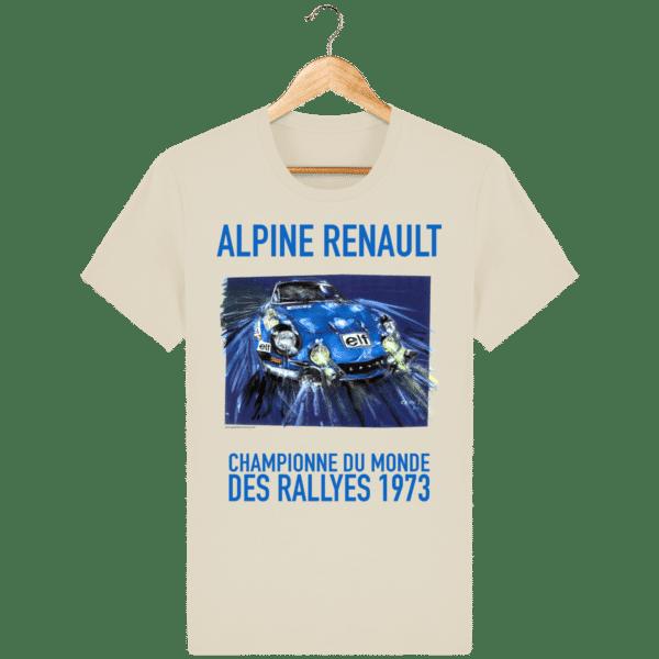 Tee Shirt ALPINE RENAULT championne du monde 1973 desert-dust