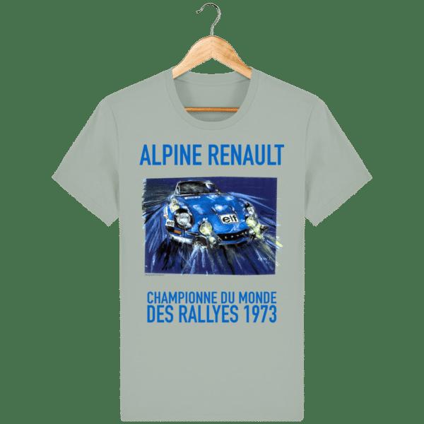 Tee Shirt ALPINE RENAULT championne du monde 1973 opal