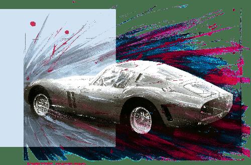 dessin Ferrari GTO