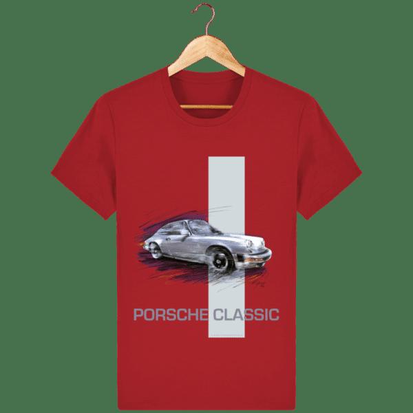 Tee shirt PORSCHE CLASSIC coloris 2 - Red - Face