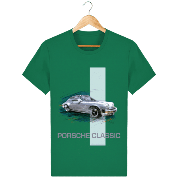 Tee shirt PORSCHE CLASSIC coloris 2 - Varsity Green - Face