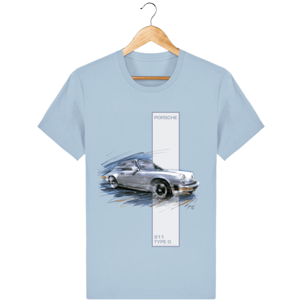 Tee shirt Porsche 911 Type G coloris 2 - Sky blue - Face