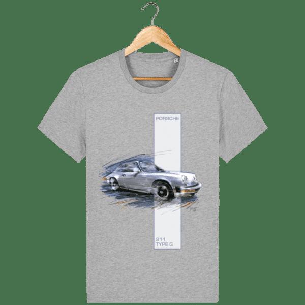 T-shirt Porsche 911 type G - Heather Grey - Face