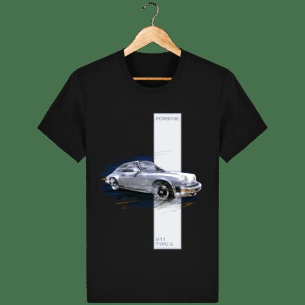 T-shirt Porsche 911 type G - Black - Face