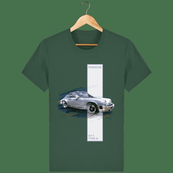 T-shirt Porsche 911 type G - Bottle Green - Face