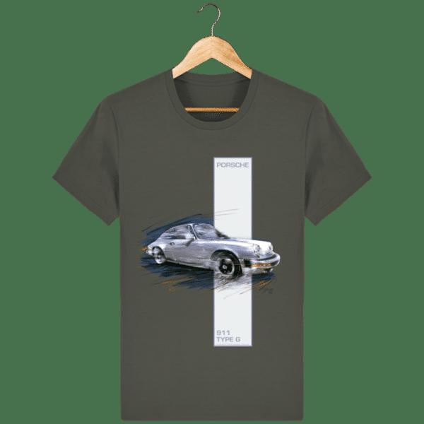 T-shirt Porsche 911 type G - Khaki - Face